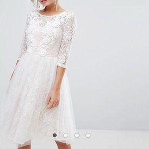 Chi Chi London Bridal Lace Midi Dress